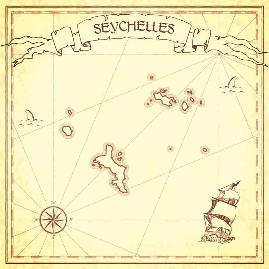 Pirates of the Seychelles Pirate Map Seychelles