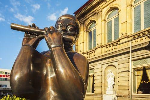 San Jose Costa Rica National Theatre Statue