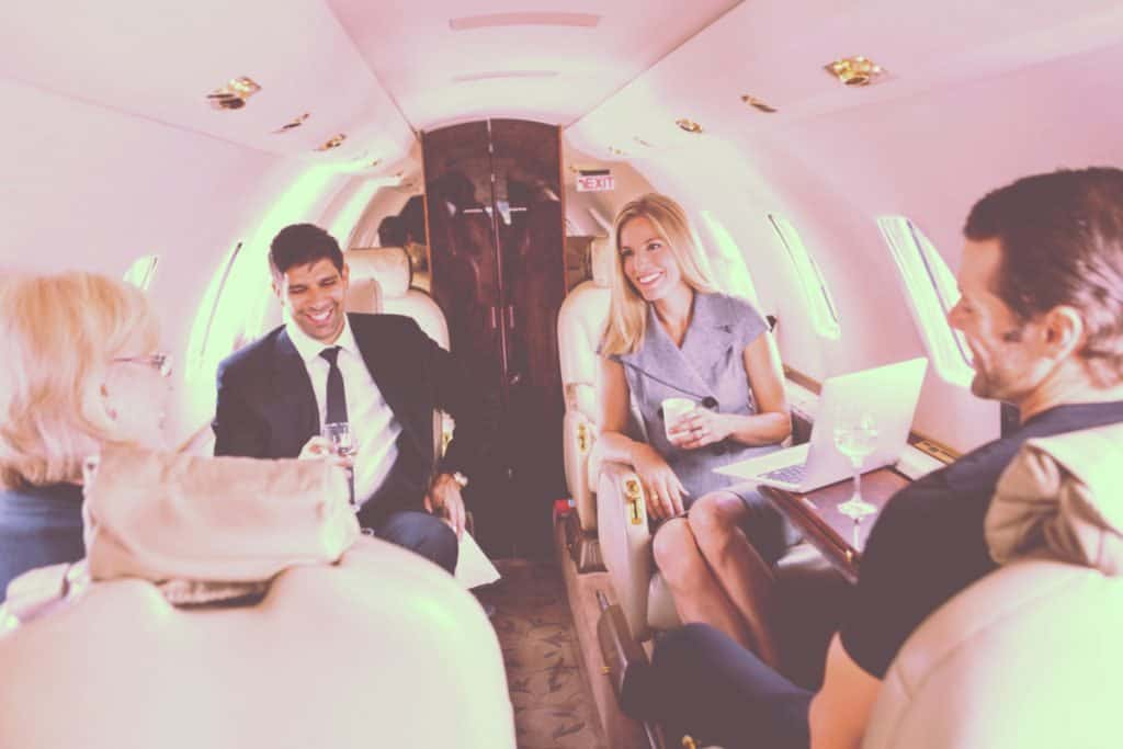 Company Meeting Inflight Private Jet