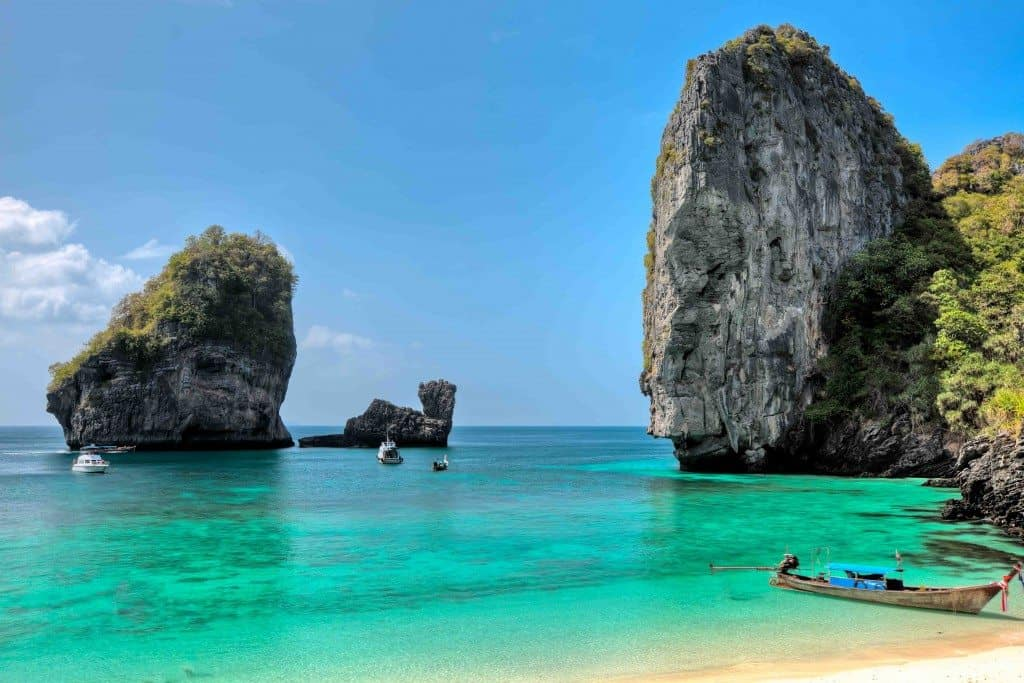 Phi phi island close to Phuket Thailand