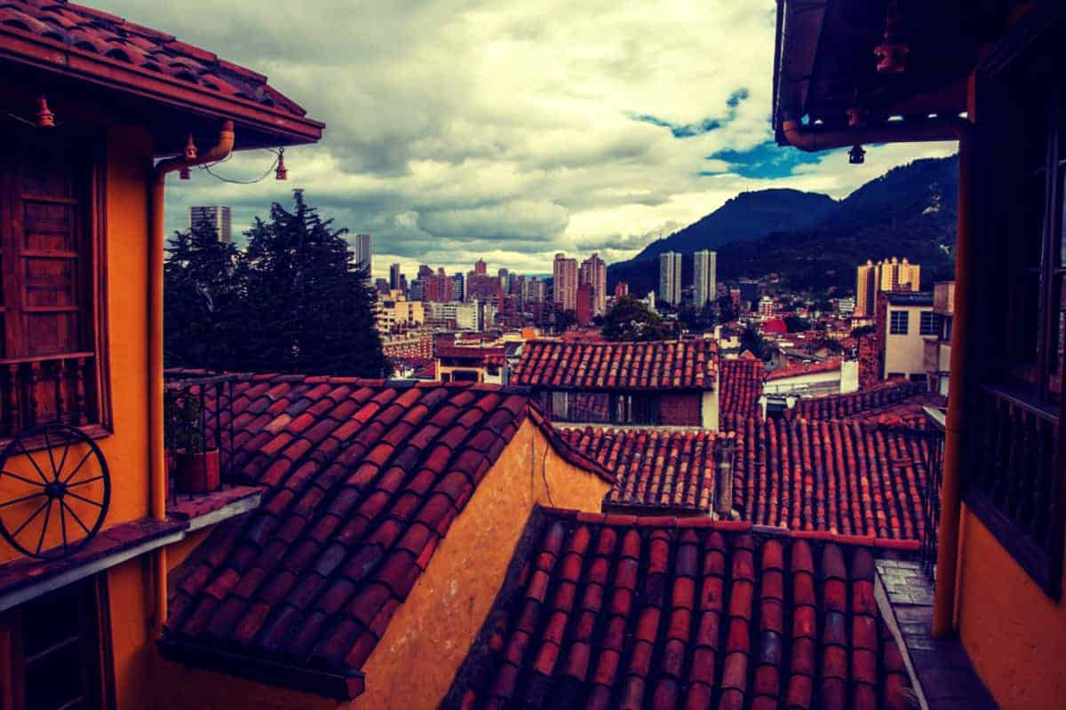 City of Bogota, Colombia view of rooftops