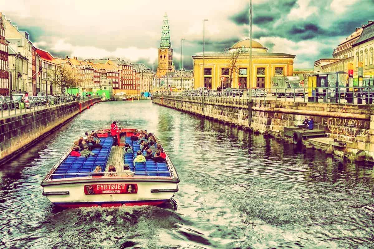 Boat in Canal of Copenhagen