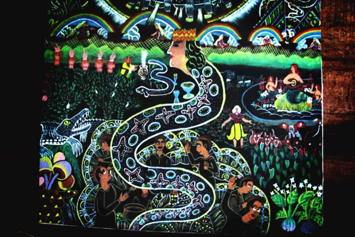 Healing Art Ayahuasca Spirit Represented as Snake