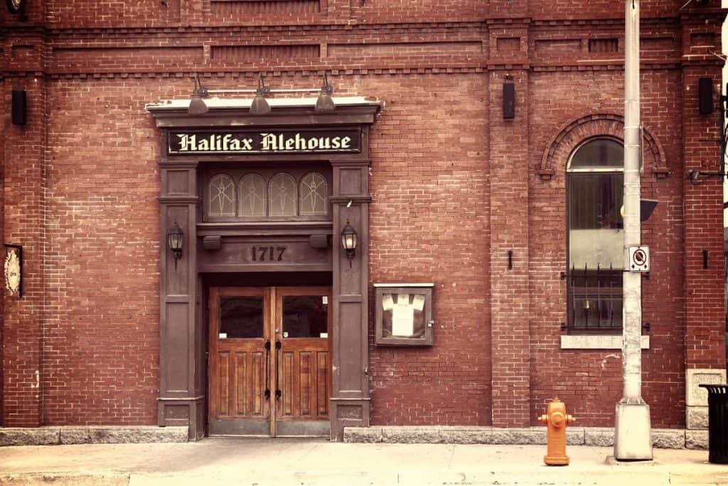 Facade of Halifax Alehouse Canada