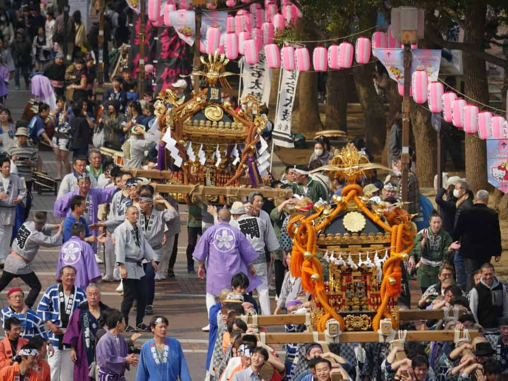 May Mikoshi Festival in Tokyo Japan