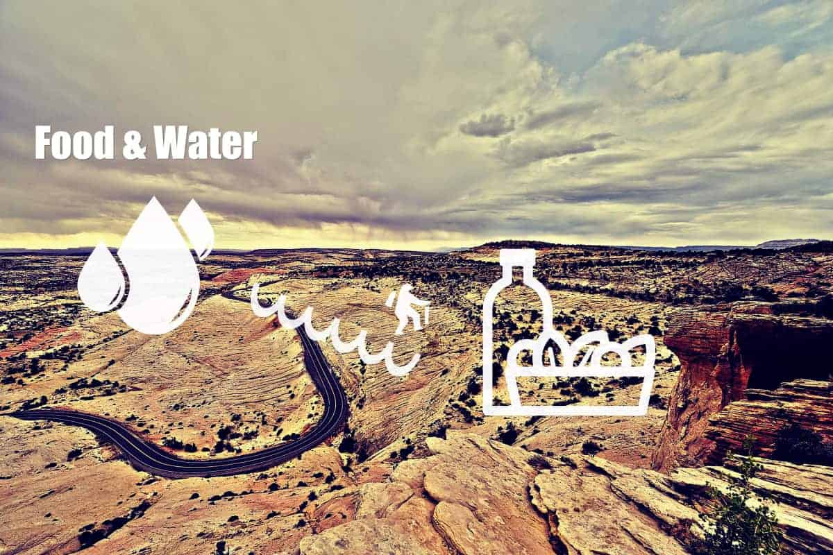 Food and Water for hiking
