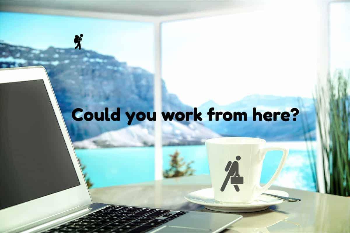 Digital Nomad Working Mountainside
